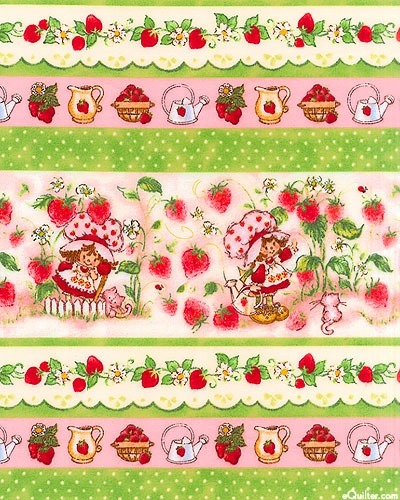 Strawberry Shortcake Flannel Fabric