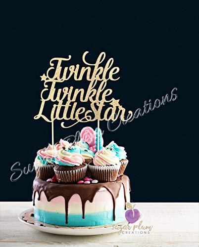 Amazon Com  Twinkle Twinkle Little Star Cake Topper  Home & Kitchen
