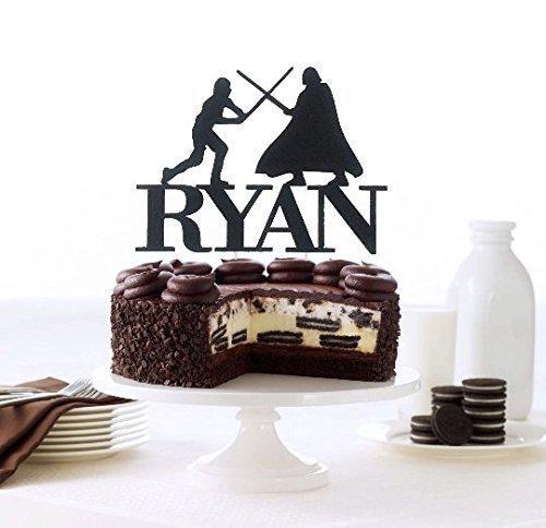 Amazon Com  Luke Vs Darth Vader Inspired Cake Topper, Custom Name