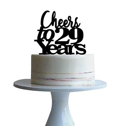 Amazon Com  Cheers To 29years Cake Topper For 29 Years Love