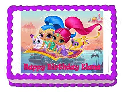 Amazon Com  Shimmer And Shine Party Edible Cake Image Cake Topper