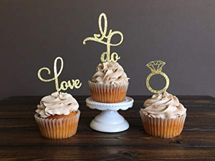Amazon Com  Engagement Cupcake Toppers Picks Bridal Shower