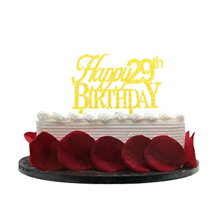 Amazon Com  Minhero Happy29th Birthday Cake Topper For 29th