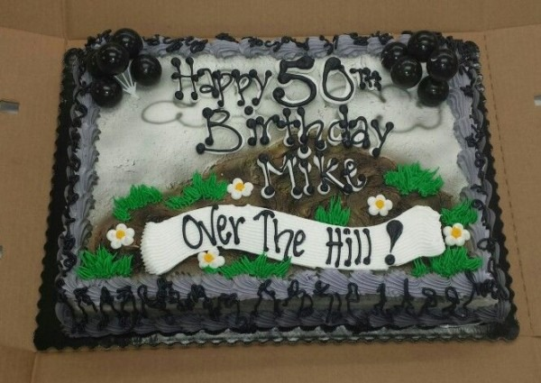 50th Birthday Over The Hill Cake