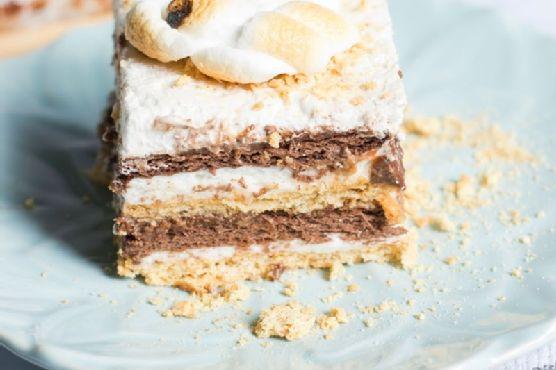 Vegan S'mores Icebox Cake (runner