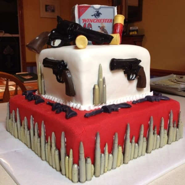 Gun Cake For 40th Birthday