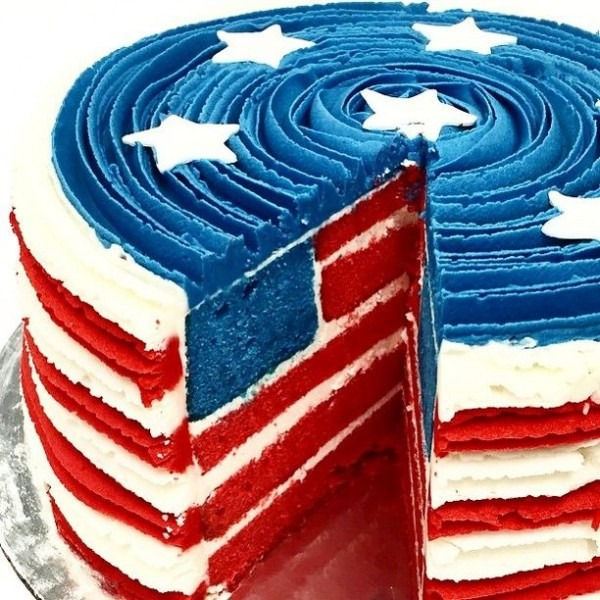 July 4th Cake Red White And Blue Cake
