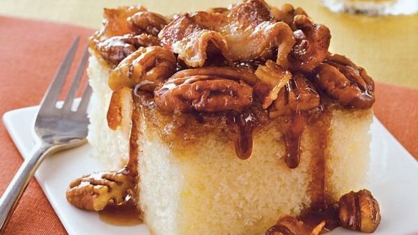 Maple Bacon Upside Down Cake Recipe