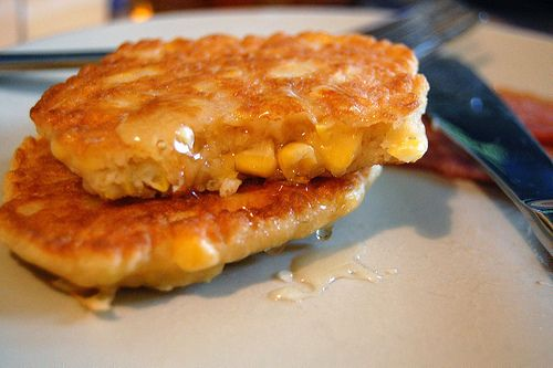 Bisquick Corn Fritters Recipe ♥ 1 Can Cream Corn ♥1 2 Cup Frozen