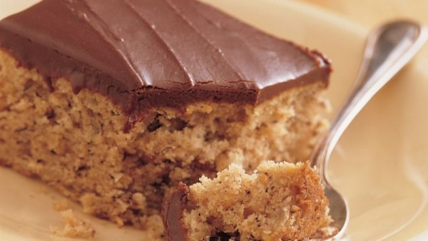 Banana Cake With Fudge Frosting Recipe