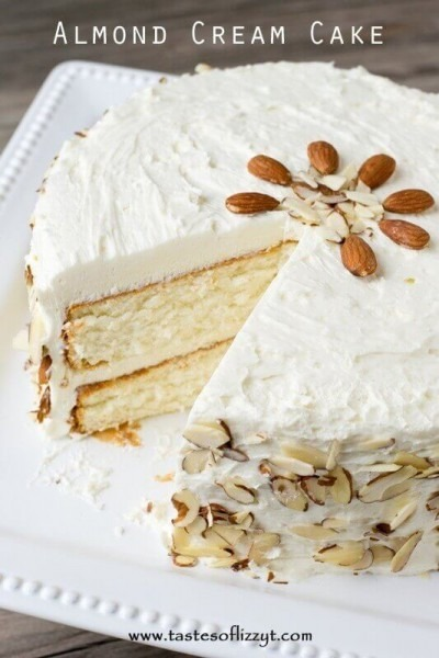 Almond Cream Cake {velvety From