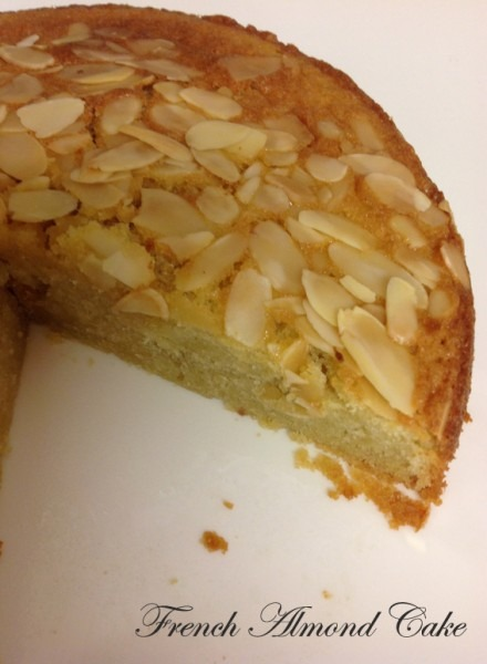 Cherry Top  French Almond Cake
