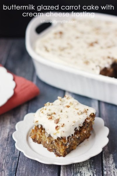 Buttermilk Glazed Carrot Cake With Cream Cheese Frosting