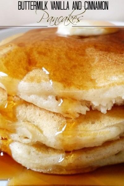 Vanilla Cinnamon Buttermilk Pancakes