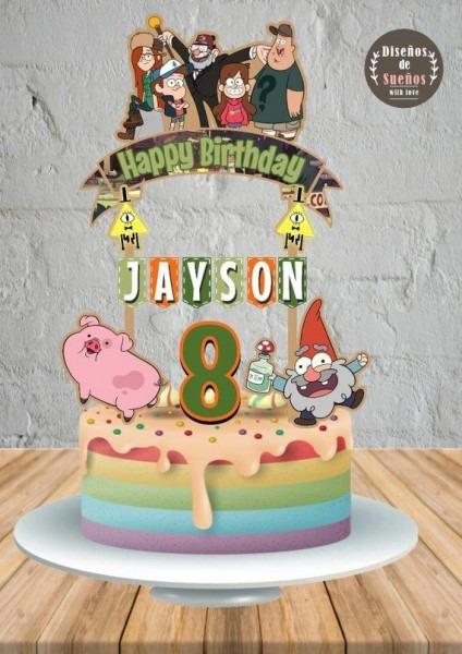 Gravity Falls Cake Topper, Gravity Falls Birthday, Gravity Falls