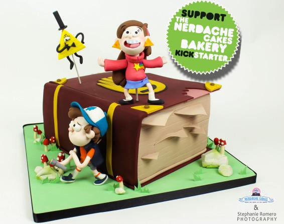 Nerdache Cakes On Twitter   Welcome To  Gravityfalls! Slice Of