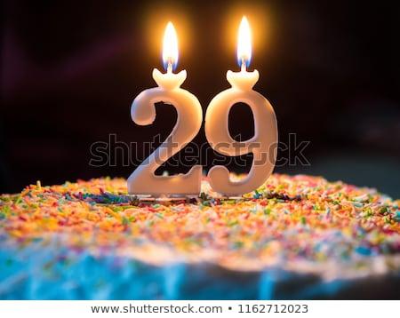 Close Lemon Birthday Cake Candy Sprinkle Stock Photo (edit Now
