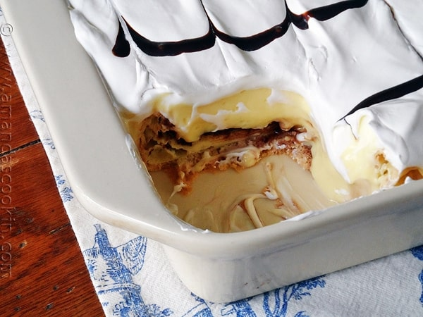 Cream Puff Chocolate Eclair Cake  Puff Pastry Eclair Cake