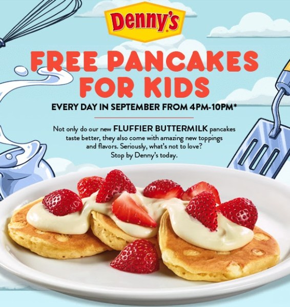 Free Pancakes For Kids At Denny's