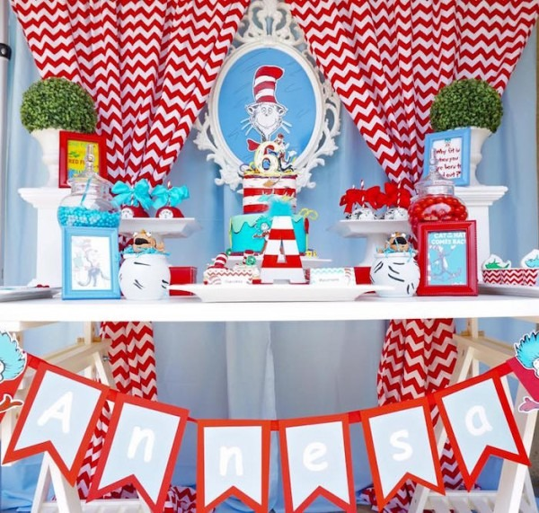Kara's Party Ideas Dr  Seuss Birthday Party