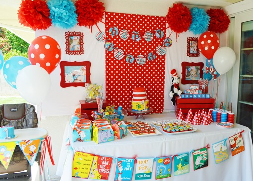 Southern Blue Celebrations  Dr Seuss Party Ideas