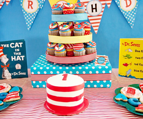 Whimsical Dr  Seuss Inspired Birthday Party    Hostess With The
