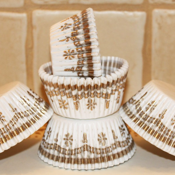 Cupcake, Paper, Gold, Fancy, Baking,cupcake Liners,graduation