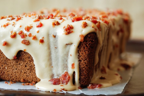 Espresso Pound Cake With Maple Bacon Icing