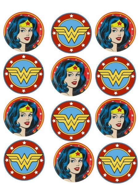 Wonder Woman Cupcake Edible Topper