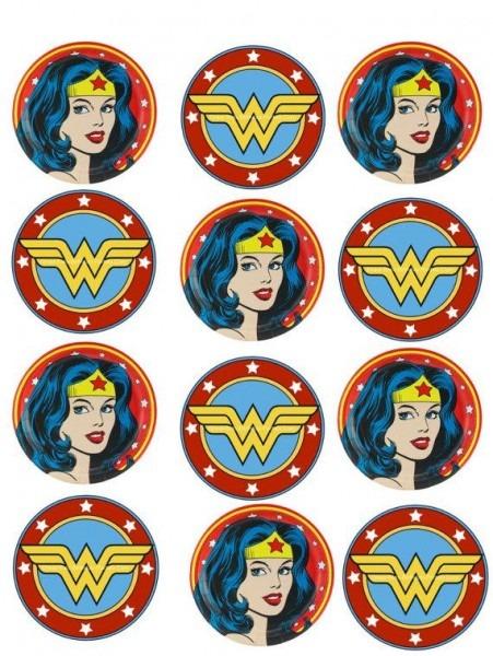 Wonder Woman Superhero Cupcake Topper (2) In 2019