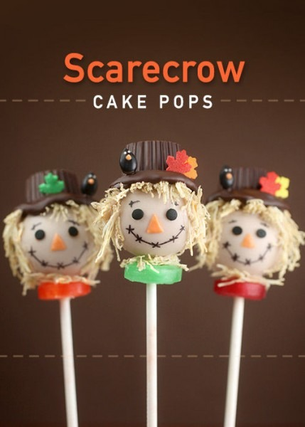 Sweet Scarecrow Cake Pops   Fall Cake Pop