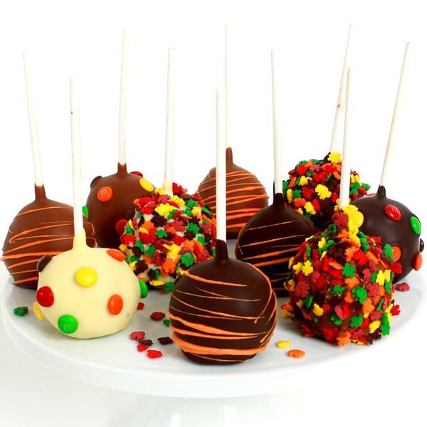 Fall Cake Pops By Gourmetgiftbaskets Com