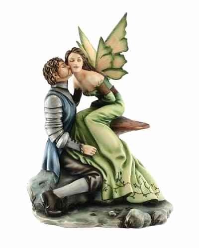 Fantasy A Frog Once Loved A Turtle Fairy Wedding Cake Topper