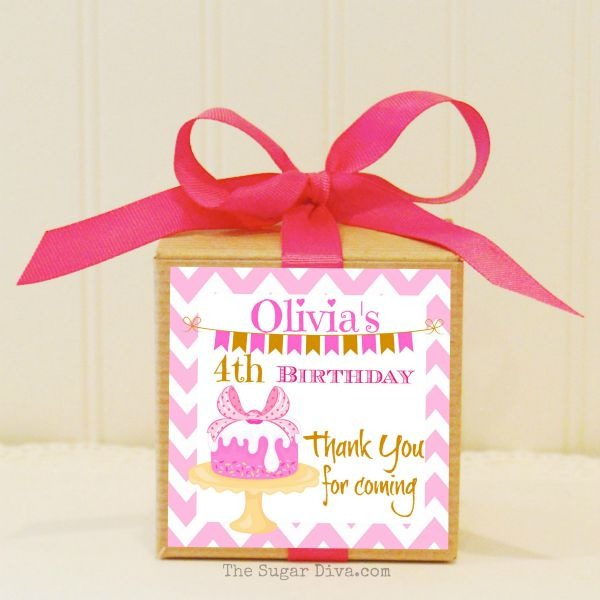 Birthday Gift Boxes, 12 Personalized Favor Box Kits, Baby's First