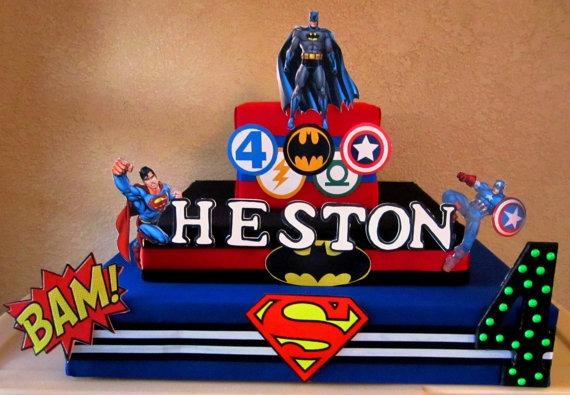 Superhero Cupcake Stand By Fabracadabradesigns On Etsy, $85 00