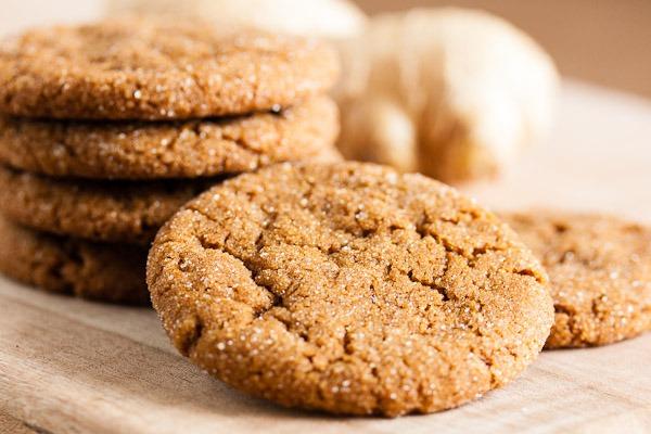 Fresh Ginger Molasses Cookies
