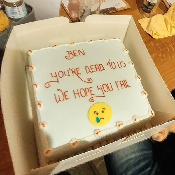 64 Hilarious Farewell Cakes That Employees Got On Their Last Day