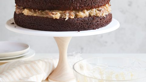 German Chocolate Cake With Coconut Pecan Frosting