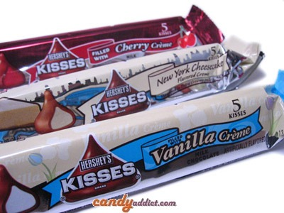 Candy Review  Hershey's Kisses Cherry Creme, Cheesecake, And