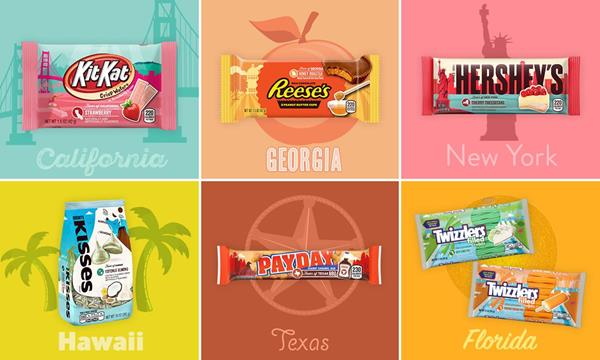 Hershey's New  Flavors Of America  Collection Includes Strawberry