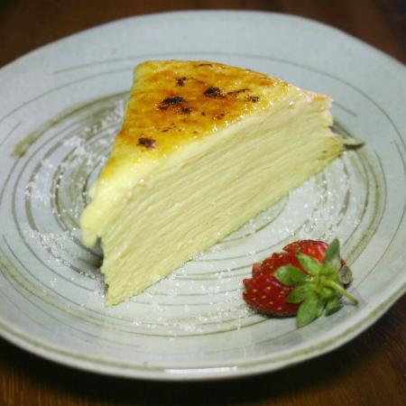 Japanese Thousand Layer Cake Or Mile Crepes