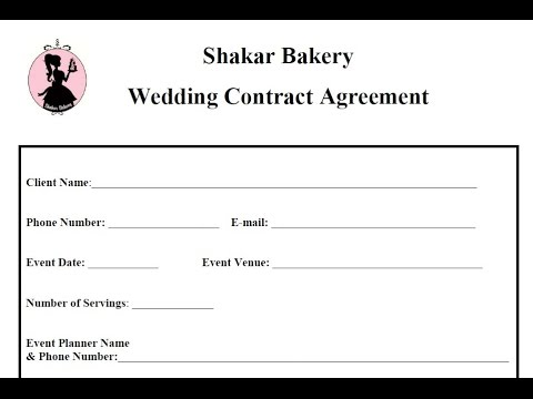 How To Draft A Wedding Cake Contracts  Business Basics