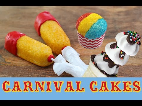 Carnival Cakes Cupcakes, Twinkies & Super Bowl Treats