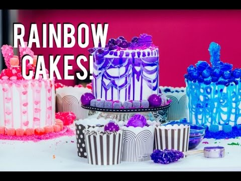 How To Make Rainbow Cakes With A Sprinkle Surprise Inside