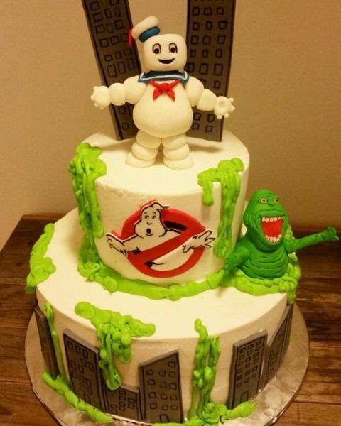 Handmade Fondant Ghostbusters Inspired Cake Topper Set