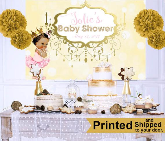 Royal Princess Baby Shower Cake Table Backdrop Princess Baby