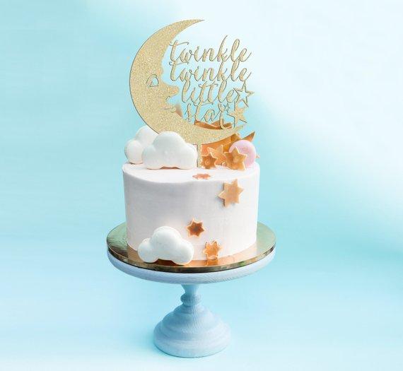 Baby Shower Cake Topper Twinkle Twinkle Little Star Cake