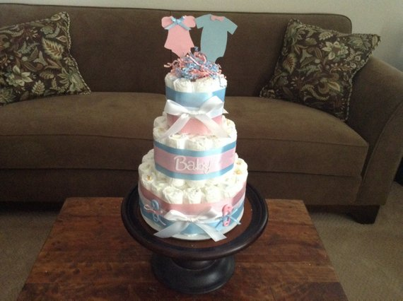 Gender Reveal Diaper Cake Baby Shower Centerpiece Other Styles