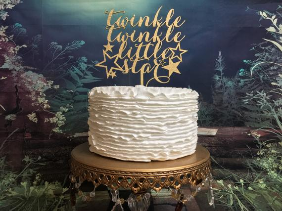Twinkle Twinkle Little Star Cake Topper Baby Shower Cake
