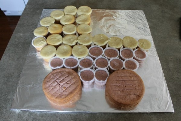 A Baby Buggy Cupcake Cake
